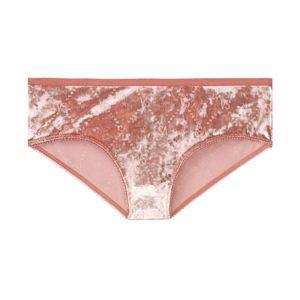 Victoria's Secret Velvet Hiphugger Panty Pink NWT